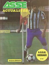 42 Saint Etienne ASSE ACTUALITES N 64 Jacques ZIMAKO 17 octobre 1980 ASSE/SOCHAU