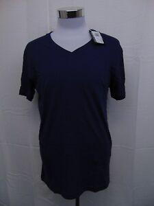 Ralph Lauren Men's Short Sleeve V-Neck Cotton Tee Shirt Navy Blue Medium #2238