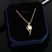 New 18k Gold Filled Jewelry Crystal Zircon Necklace Fashion Woman Pendant Chain