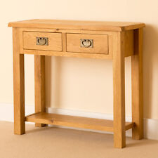 Lanner Oak Console Table / Rustic Side Table / Waxed Solid Wood Hall Table / New