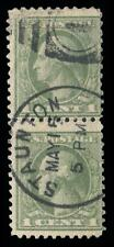 """#525d used pair """"Double Impression"""" w/faults, PSE Certificate # 01263937"""