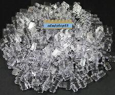 LEGO - 1x2 Bricks Translucent Clear - Wall Window 3004 Trans Blocks Bulk Lot