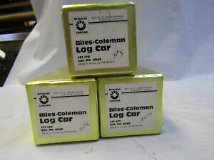 ORIENTAL LIMITED  HOn3 BILES-COLEMAN LOG CARS ( 3 CARS ) NIB PRE OWNED