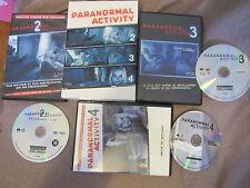 Paranormal Activity 2/3/4 avec Katie Featherston, coffret 3DVD, Horreur, RARE!!!