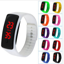 Men Women's Date Rubber LED Waterproof Watch Bracelet Digital Sport Wrist Watch