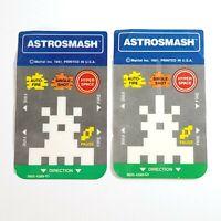 Lot of 2 Vintage 1981 Mattel Astrosmash Intellivision Controller Overlays