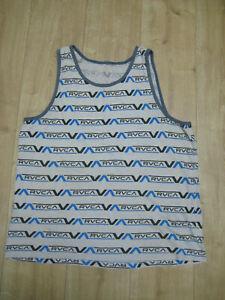 RVCA VA Muscle Shirt Tank Top Vest Gr. L All Over Print