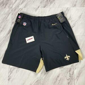 Nike Saints On Field Men's Size 2XL Dri Fit Shorts Black AO3857-010