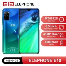"GLOBAL Elephone E10 6.5"" Android 10 4GB+64GB Octa-C 48MP Quad,NFC 4G Smartphone"