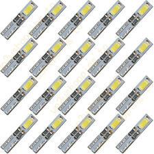 20 x T5 12V 2-5630-SMD LED White Dashboard Gauge Light Car Signal bulbs mini