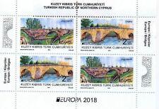 2018  - EUROPA (HISTORICAL BRIDGES)  - TURKISH CYPRUS - UMM BLOCK