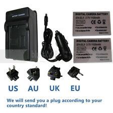 2 Pack EN-EL5 Battery+Charger for Nikon Coolpix P500 P510 P520 P530 P80 P90 P100