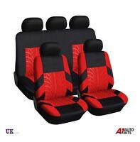 RED BLACK FABRIC FULL CAR SEAT COVERS SET FOR HYUNDAI i40 i30 ix35
