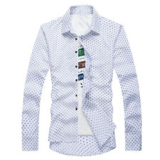 Fashion Men's Luxury Long Sleeve Shirt Casual Slim Fit Stylish Dress Shirts Tops