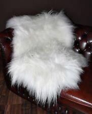 icelandic ivory white natural sheepskin rug real fur lambskin pelt