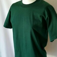 Best Fruit of the Loom 90s Blank T Shirt Nos Deadstock Adult S 50/50 Drk Green