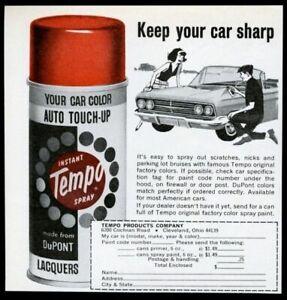 1964 Tempo original car factory color spray paint vintage print ad