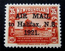 nystamps Canada Newfoundland Air Mail Stamp # C3 Mint OG H $145