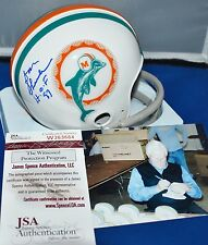 DON SHULA AUTOGRAPHED 1972 TWO BAR TB MINI HELMET MIAMI DOLPHINS HOF 97 JSA