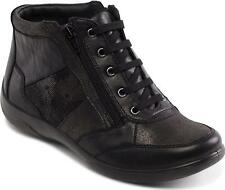 Padders PICCOLO Ladies Womens Leather Lace Up Extra Wide (2E/3E) Boots Black