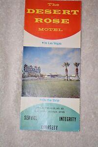Le Désert Rose Motel Las Vegas Souvenir Carte Et Brochure Environ 1960's