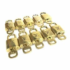Louis Vuitton Padlock and Key Set of 10 Brass Authentic Used