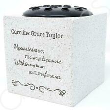 Personalised Treasured Memories Memorial Graveside Flower Rose Bowl Vase Pot