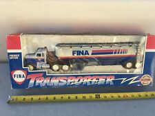 FINA TRANSPORTER COLLECTABLE TANKER TOY TRUCK LIMITED EDITION DIE CAST