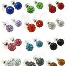10pcs Mixed Earring Czech Crystal Disco Clay Ball Stud Earrings10mm