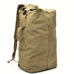 Canvas Men's Backpack Satchel Rucksack Hiking Travel Duffle Bag Military Handbag