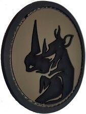 RHINO HEAD PVC TACTICAL MILITARY MORALE USA ISAF ARMY ACU HOOK PATCH