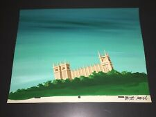 """SCOOBY-DOO / HANNA-BARBERA ANIMATION BACKGROUND PAINTING """"CASTLE""""!"""