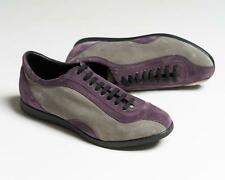 Kiton $1,195 NIB Purple Gray Suede Leather Fashion Sneakers Shoes 8 US