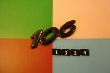 PEUGEOT 106 BLACK PLASTIC REAR BADGE EMBLEM.