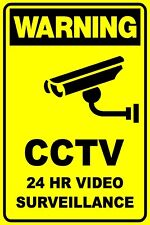 CCTV 24HR VIDEO SECURITY SURVEILLANCE - THICK PLASTIC / POLY SIGN - 300 X225MM
