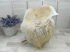 GENUINE ICELANDIC SHEEPSKIN RUG CURLY FUR MONGOLIAN CHAIR SOFA FLOOR COVER G945