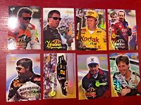 Lot of 8 1996 Visions Signings Multi-Sport Cards  NASCAR