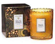 Voluspa Scalloped Baltic Amber Edge Glass Candle  ~  6.2oz (176g)