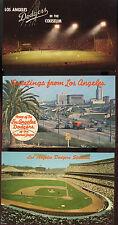 Los Angeles Dodgers  Postcards - Vintage 1959 to 1985 ( 4 Total ) Ex. Cond.