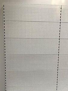Tegometall Back Panel round Hole Wall Blister Hakenwand Verkaufswand Srb 1