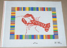 """Dee Ross """"Lobster"""" w/ Colorful Border Handpainted Needlepoint Canvas"""