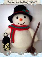 Toy Snowman Knitting Pattern. Christmas Decoration, xmas Pattern for beginners