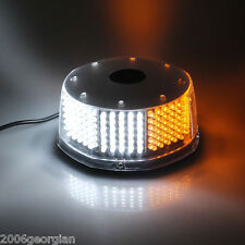 AMBER & WHITE Beacon Light  240 LED Emergency Warning Strobe Flashing Plow Tow