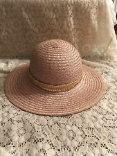 Saks Fifth Avenue Womens Straw Hat Made In Italy