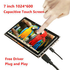 7 Inch 1024x600 Capacitive Touch Screen HDMI TFT LCD Display for Raspberry Pi
