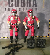 GI JOE ~ 2 FUCHSIA CRIMSON VIPERS ~ STRIKE TEAM ~ 2002 CONVENTION ~ 100% COMP