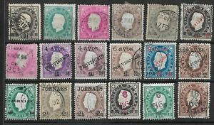 MACAO CHINA 1900 STAMP COLLECTION PROVISORIOS OVPT