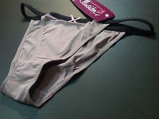 Women Panties,String Bikinis,ILUSION,Mexico,Size XL Beige, Soft Shiny Elastic