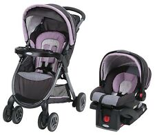 Graco Baby FastAction Fold Travel System Stroller w/ Infant Car Seat Janey NEW