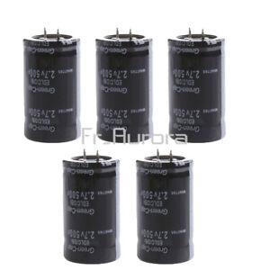 5PCS 2.7V 500F Farad Electrolytic Super Capacitor Capacitance Two Feet 16V 83F